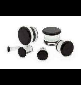 8.5mm Half Size Single Flare Glass Plugs