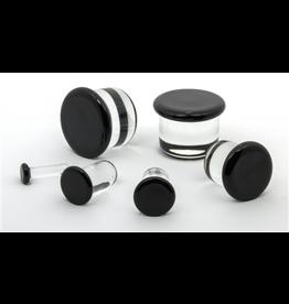 3.5mm Half Size Single Flare Glass Plugs