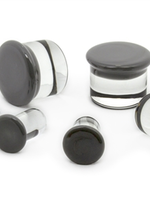 11/16-18mm Single Flare Glass Plugs