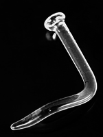 18g Glass Nostril L-Bend Retainer
