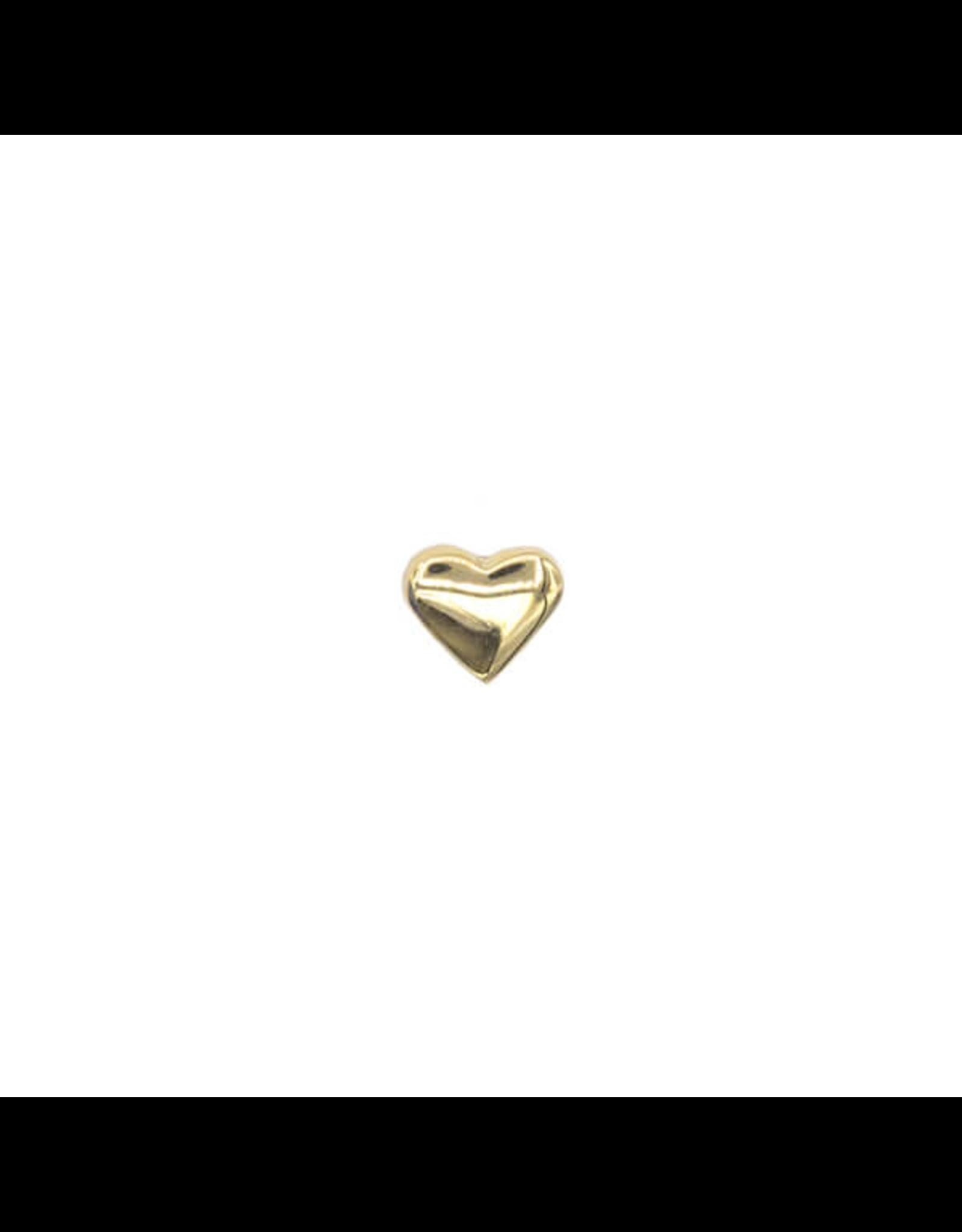 14k YG Plain Heart (1.5mm) Threadless Pin