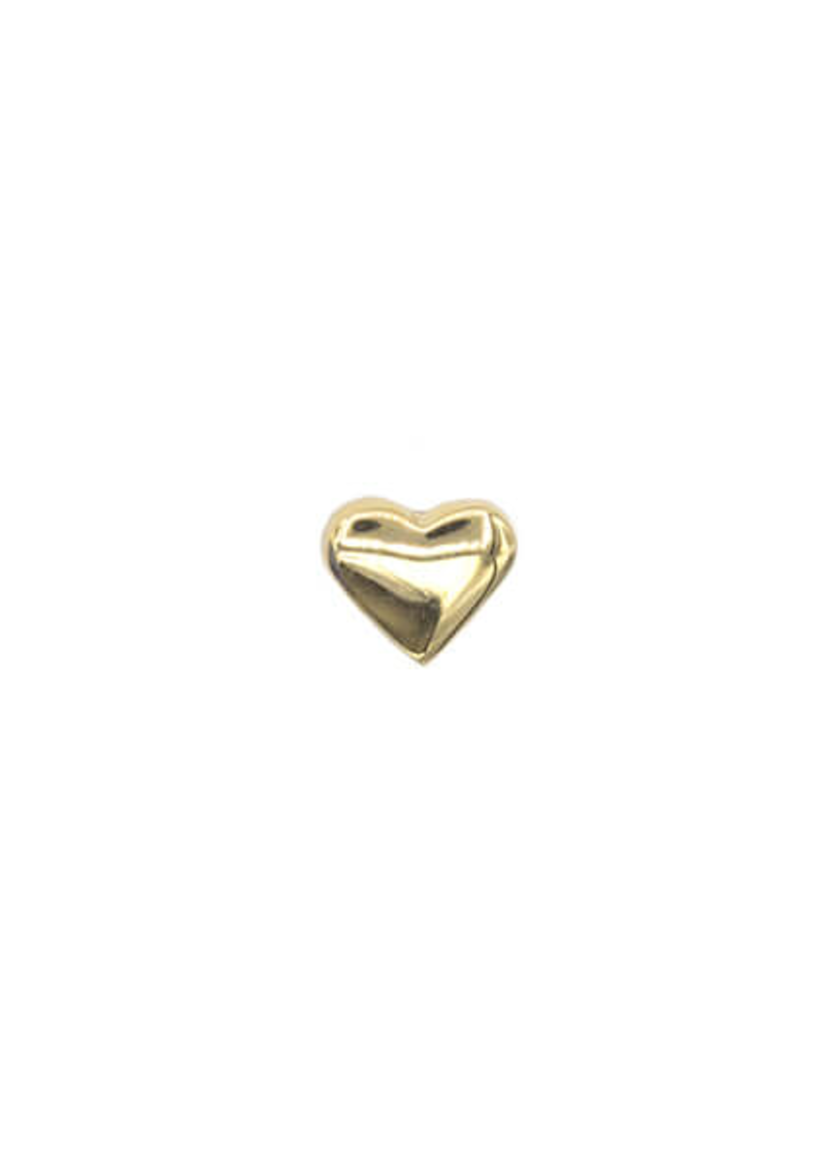 14k YG Plain Heart (1.5mm) Threadless Pin