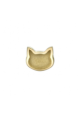 14k RG Sandblasted Flat Cat (6mm) Threadless Pin
