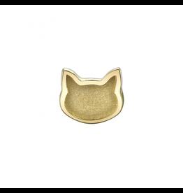 14k RG Sandblasted Flat Cat (6mm) Threadless Pin