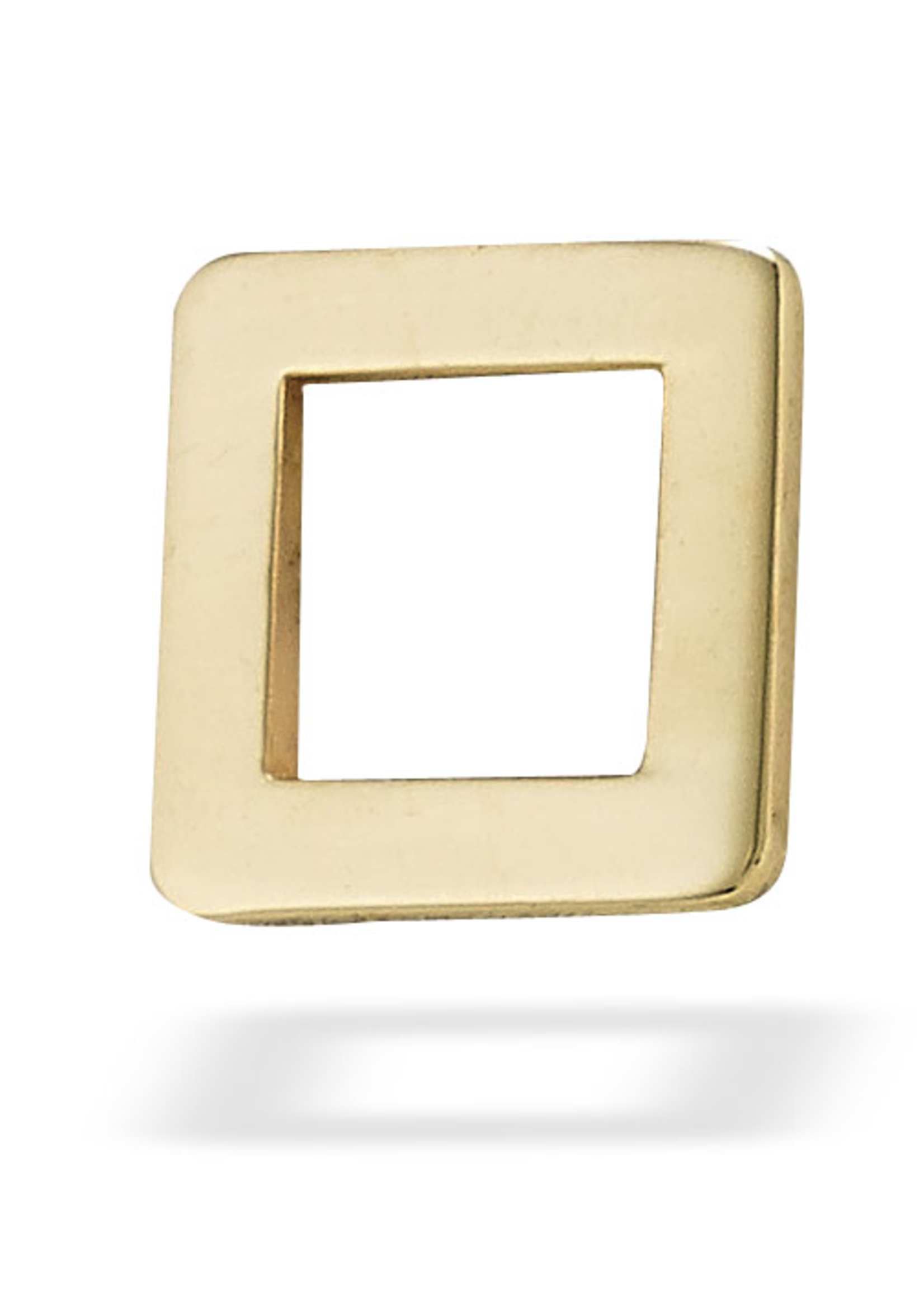14k YG Open Square (5mm)