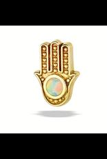 14k YG Hamsa Hand Threadless Pin