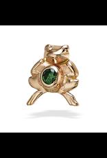 14k RG Frog 1.5mm Stone Threadless Pin