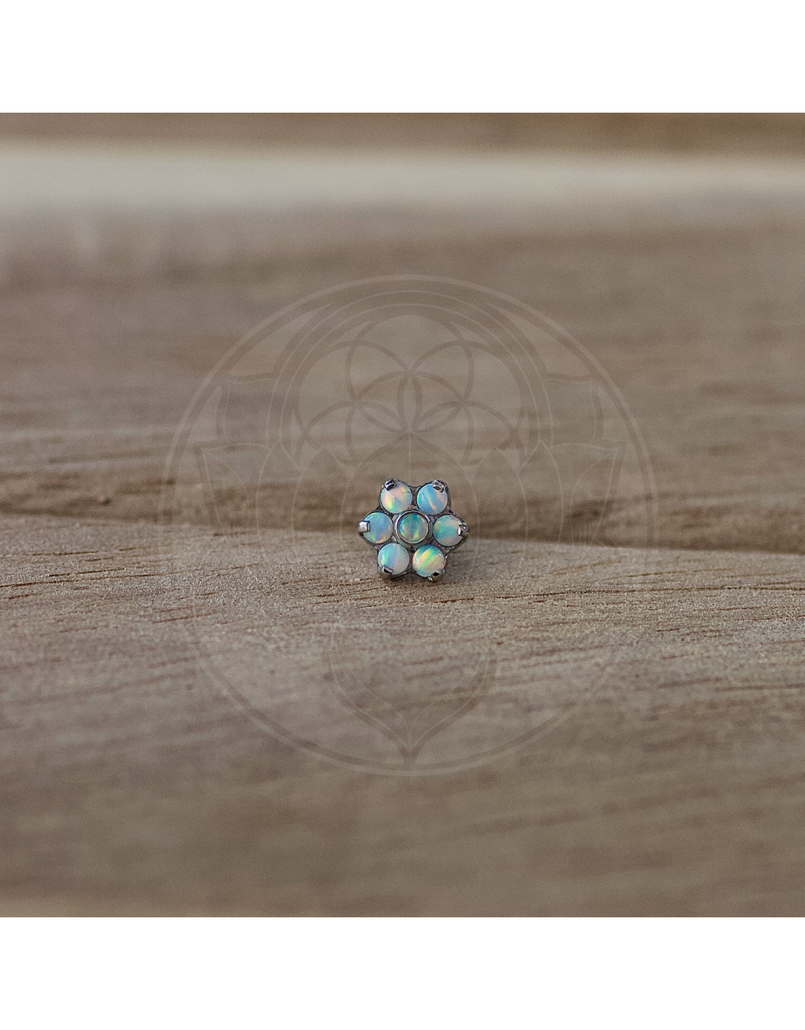 Ti Medium Opal Flower Threadless End