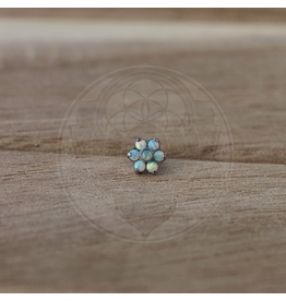 Ti Medium Opal Flower Threadless End