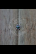14k WG Elegance Filagree Pear (2mm Bezel) 6mm Threadless Pin