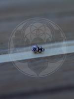 14k 3 Bead Accent (2mm Bezel) Threadless End
