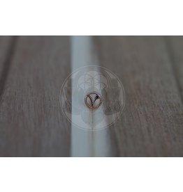 "14k Round VEGAN ""V"" Threadless End"