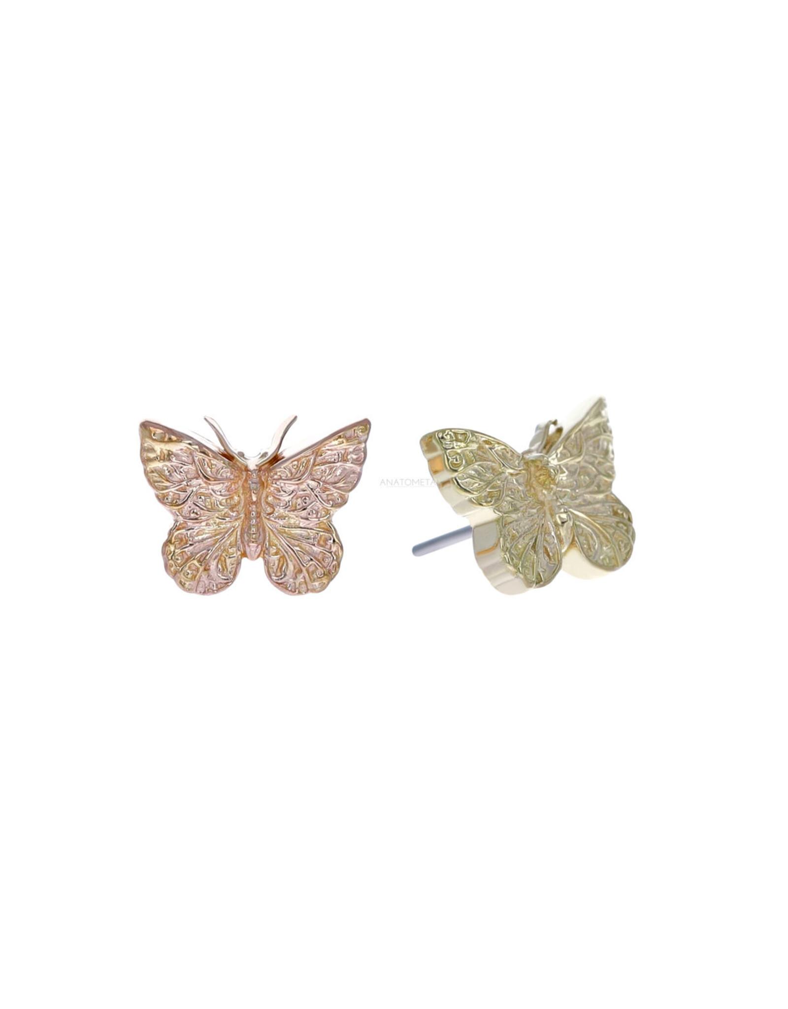 18k Butterfly Threadless End