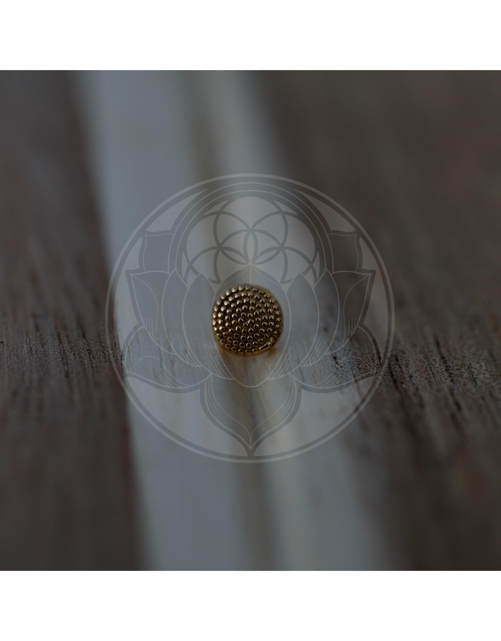 14k Milgrain Disk (4mm) Threadless Pin