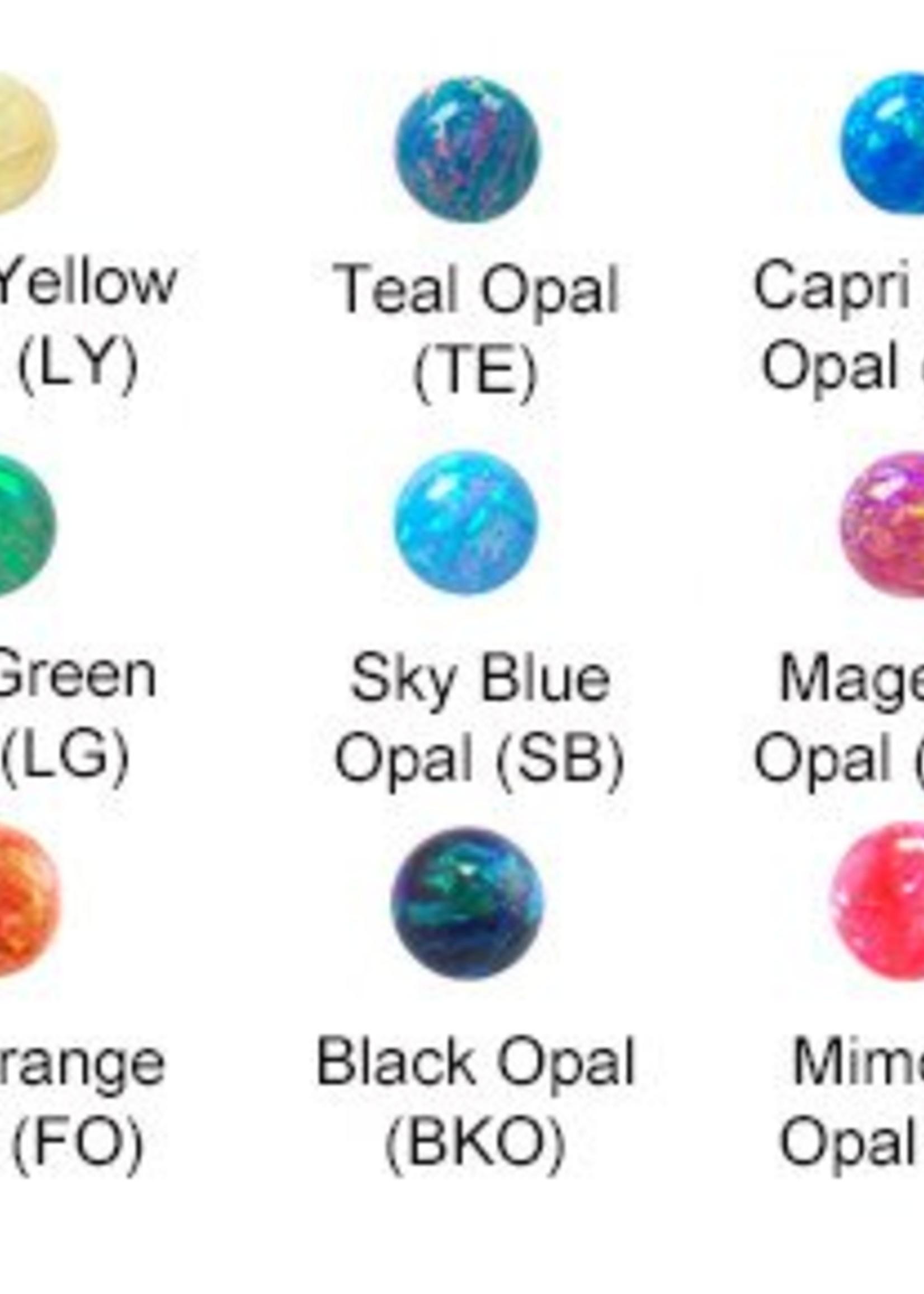14g Titanium 3-prong Opals