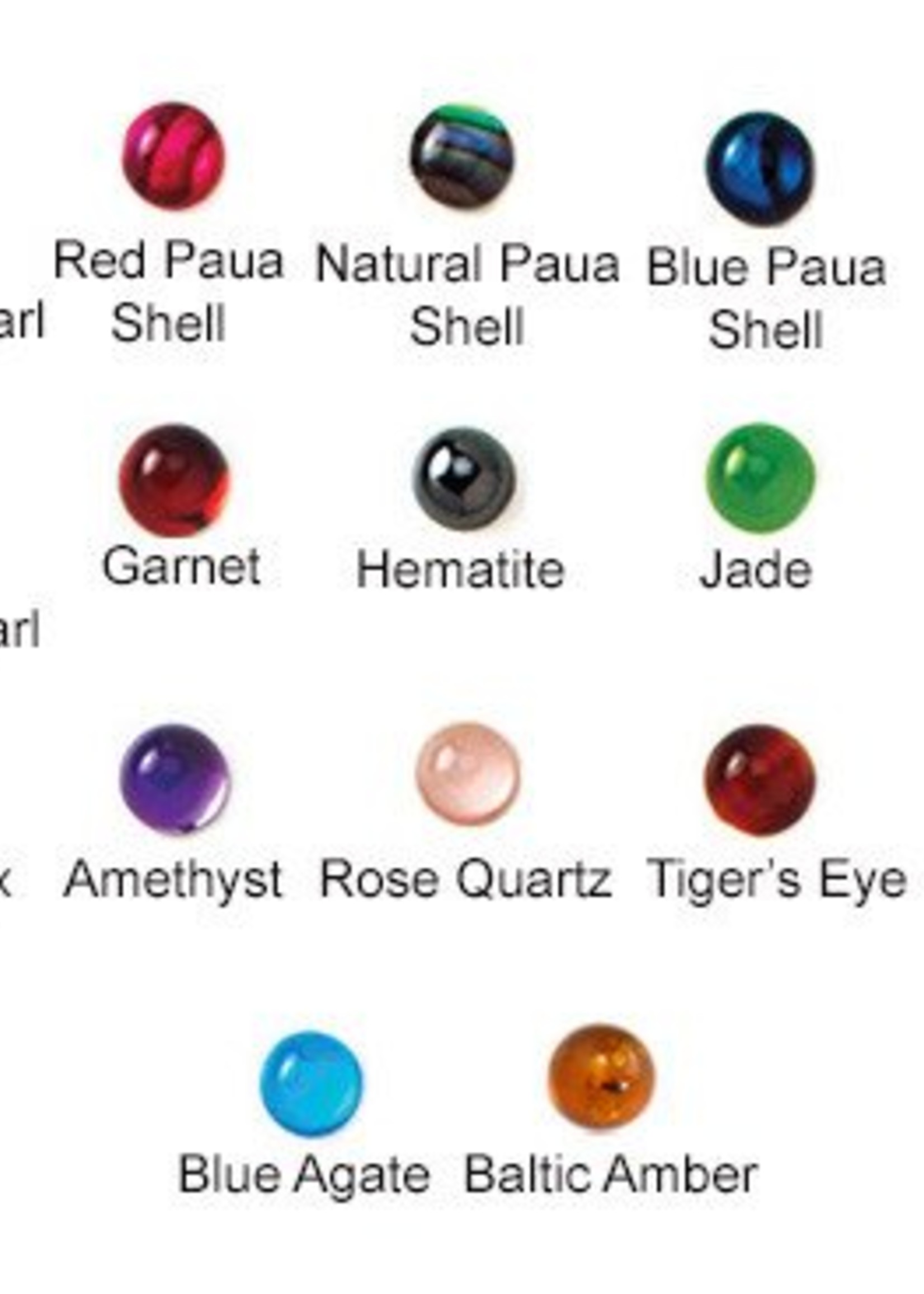 14g Titanium 3-prong Opal Threaded Ends