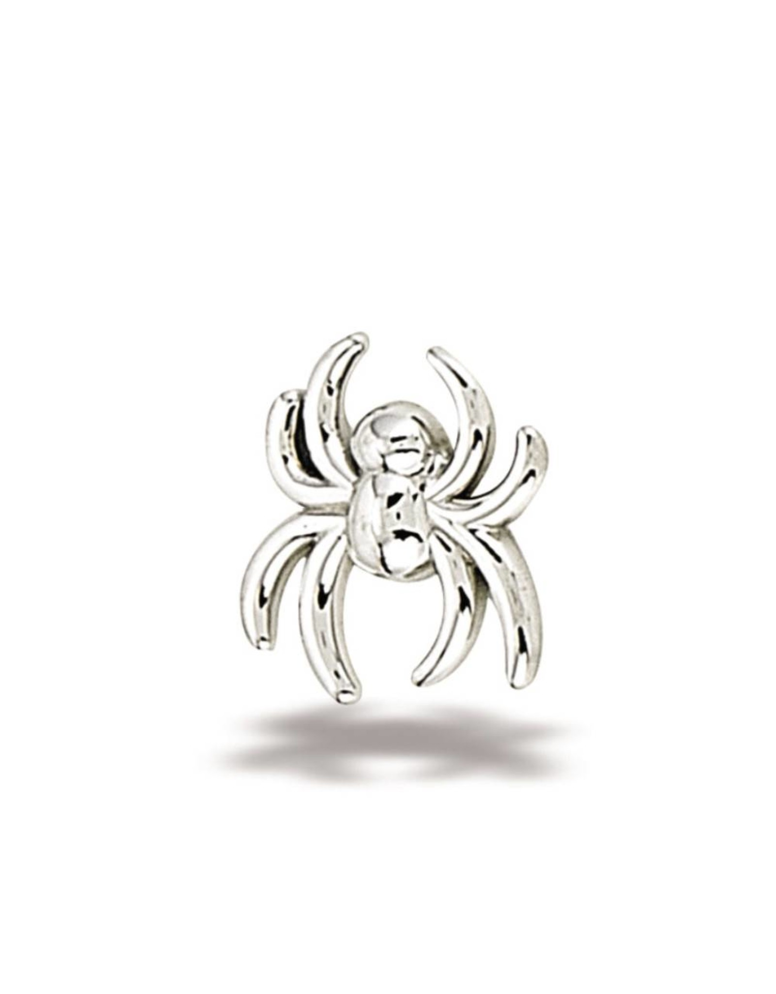 14k WG Spider (6x5.5mm) Threadless End