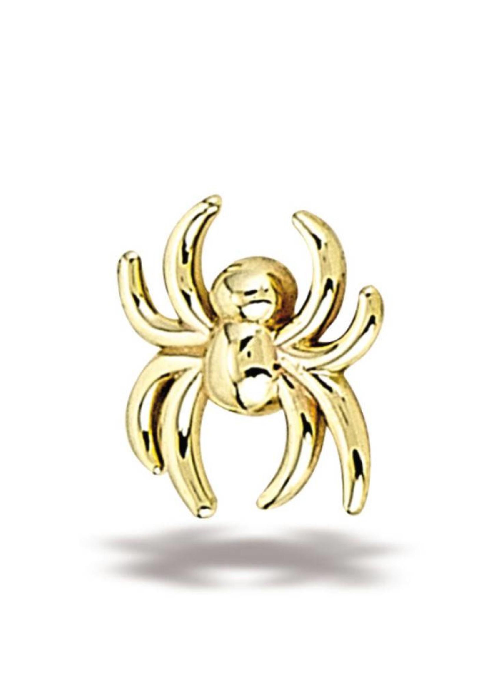 14k YG Spider (6x5.5mm) Threadless End