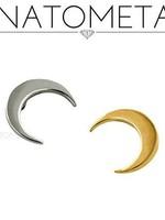 18k YG LG Crescent Moon (5mm) Threadless Pin