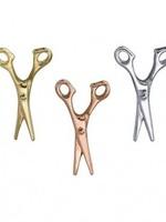 14k WG Scissors (10x6mm) Threadless Pin