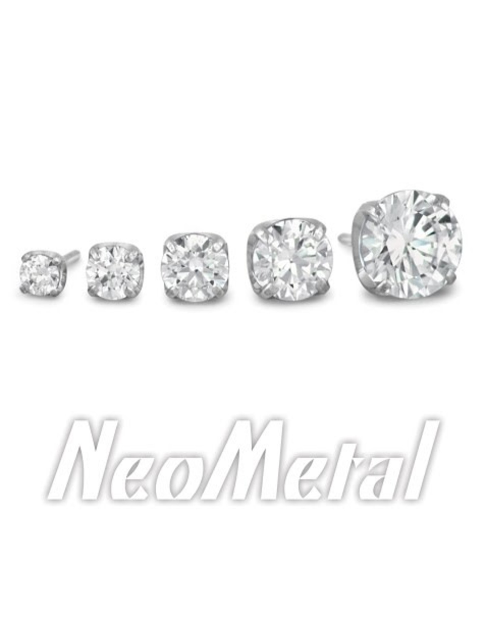 4mm Titanium Prong Set Gem Ends