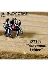 14k Venomous Spider 2 Stone (5.7x6.25)