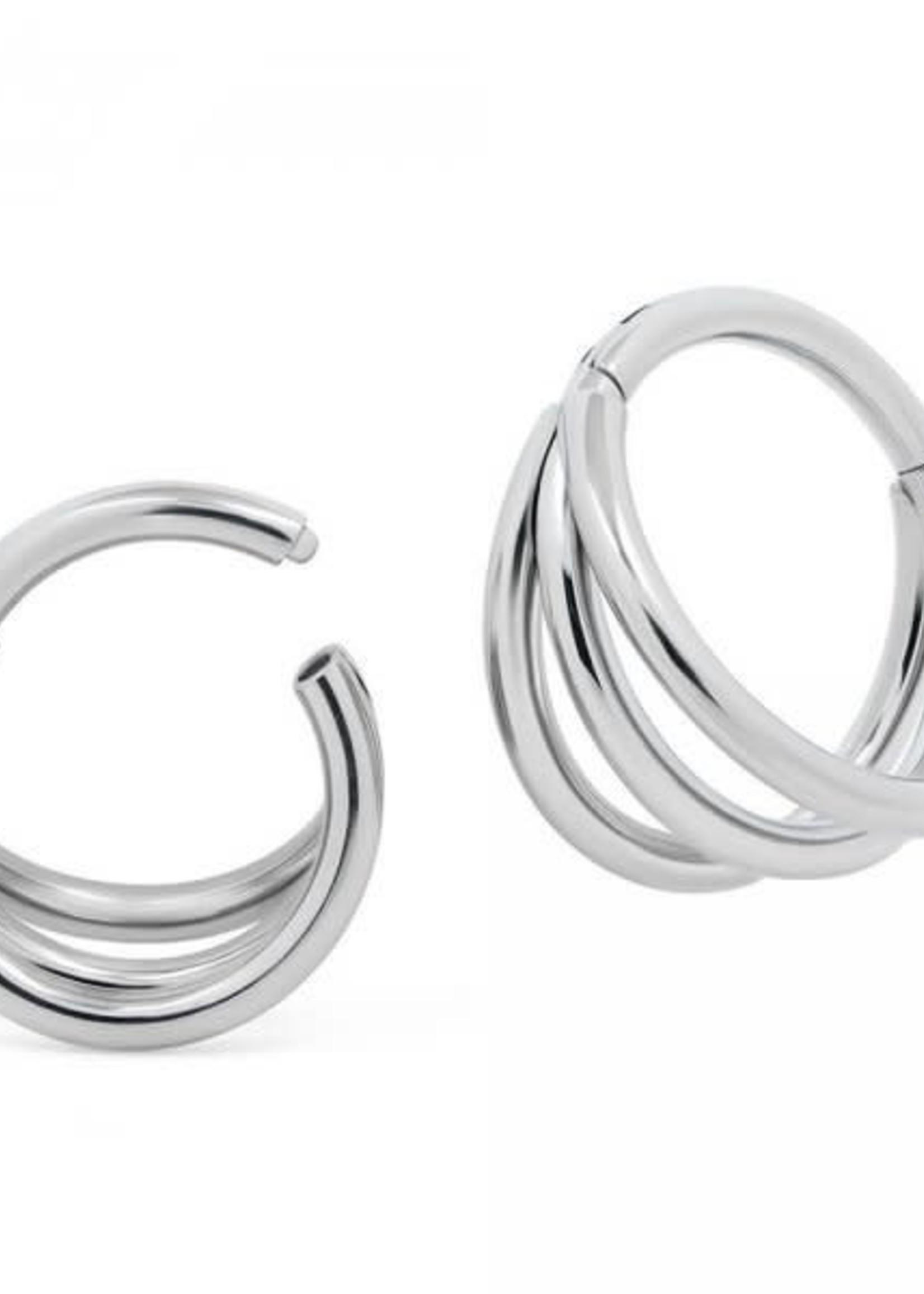 "16g 3/8"" Titanium 3-Ring Trix Hinged Ring"