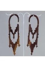 0g Ebony Gothic Cathedral Hangers