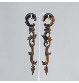 00g Ebony Long Vine Hangers
