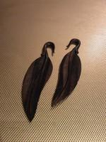 4g Ebony Feather Hangers