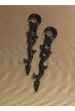 00g Ebony Long Vine Hangers