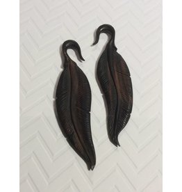 2g Ebony Feather Hangers