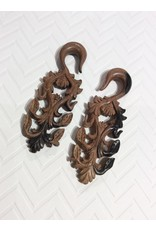 00g Ebony Floral Scroll Hangers