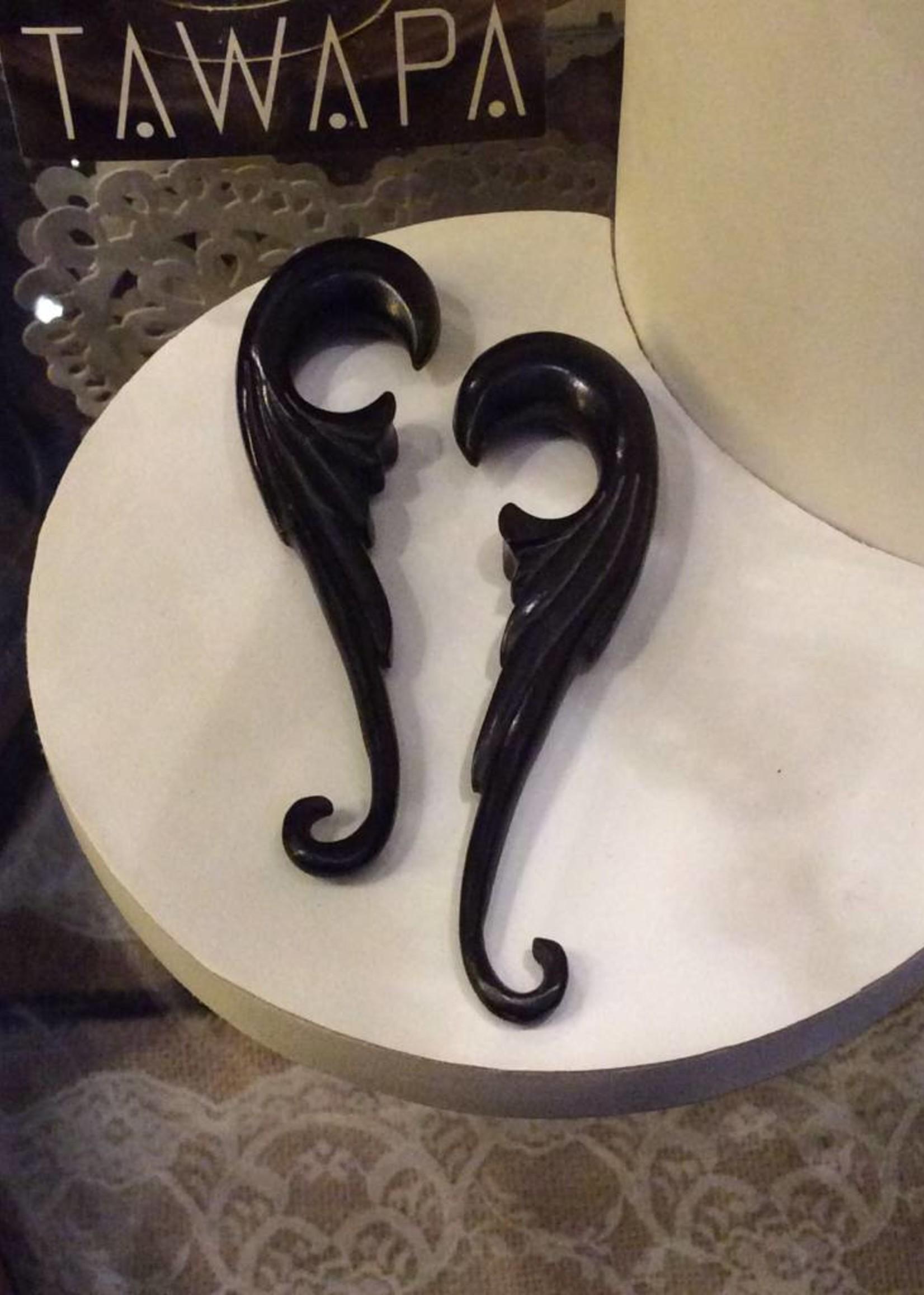 """1/2"""" Ebony Thin Wing Hangers"""