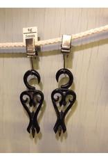4g Horn Victorian Heart Hangers