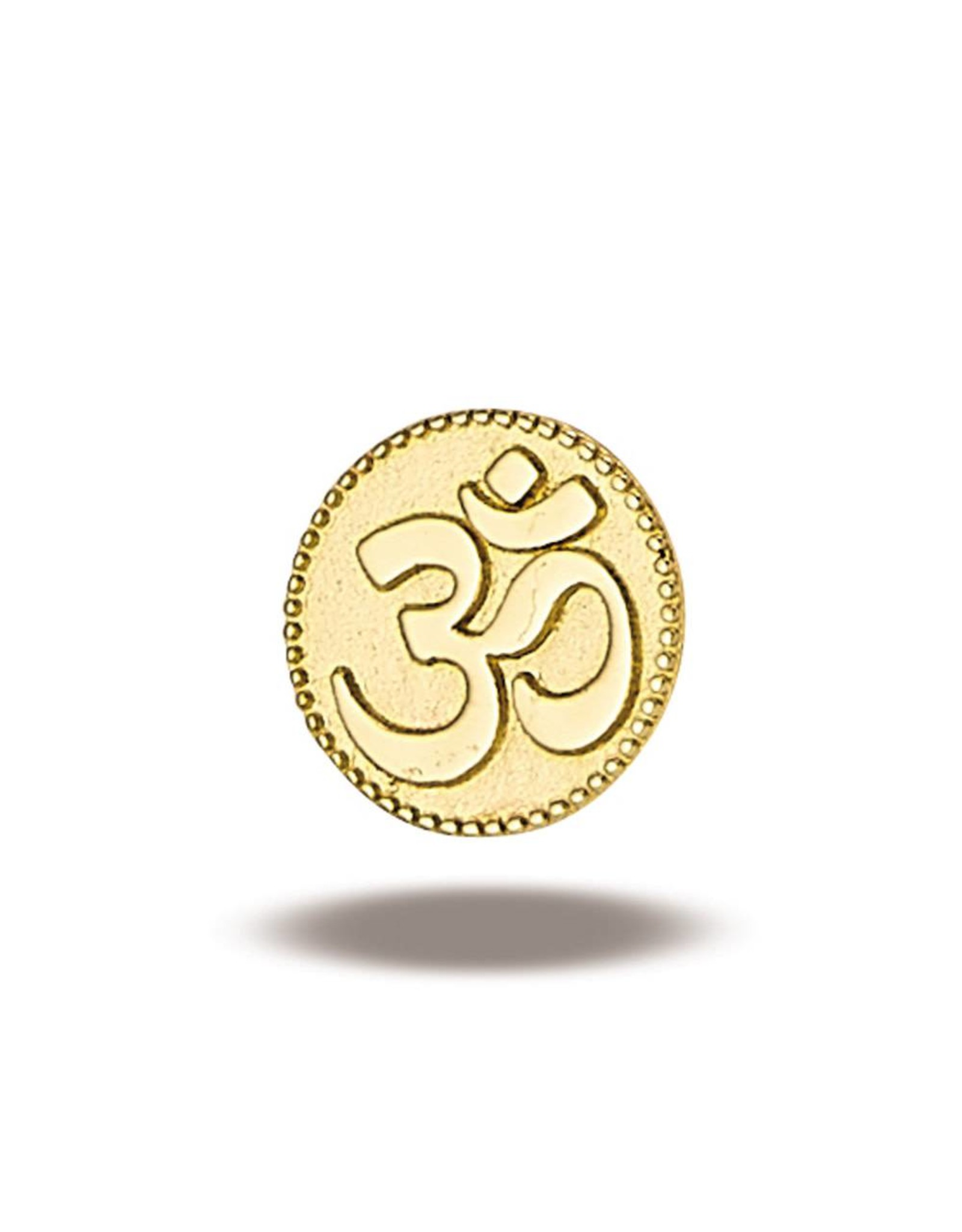 14k YG OHM Symbol (5.8mm) Threadless Pin