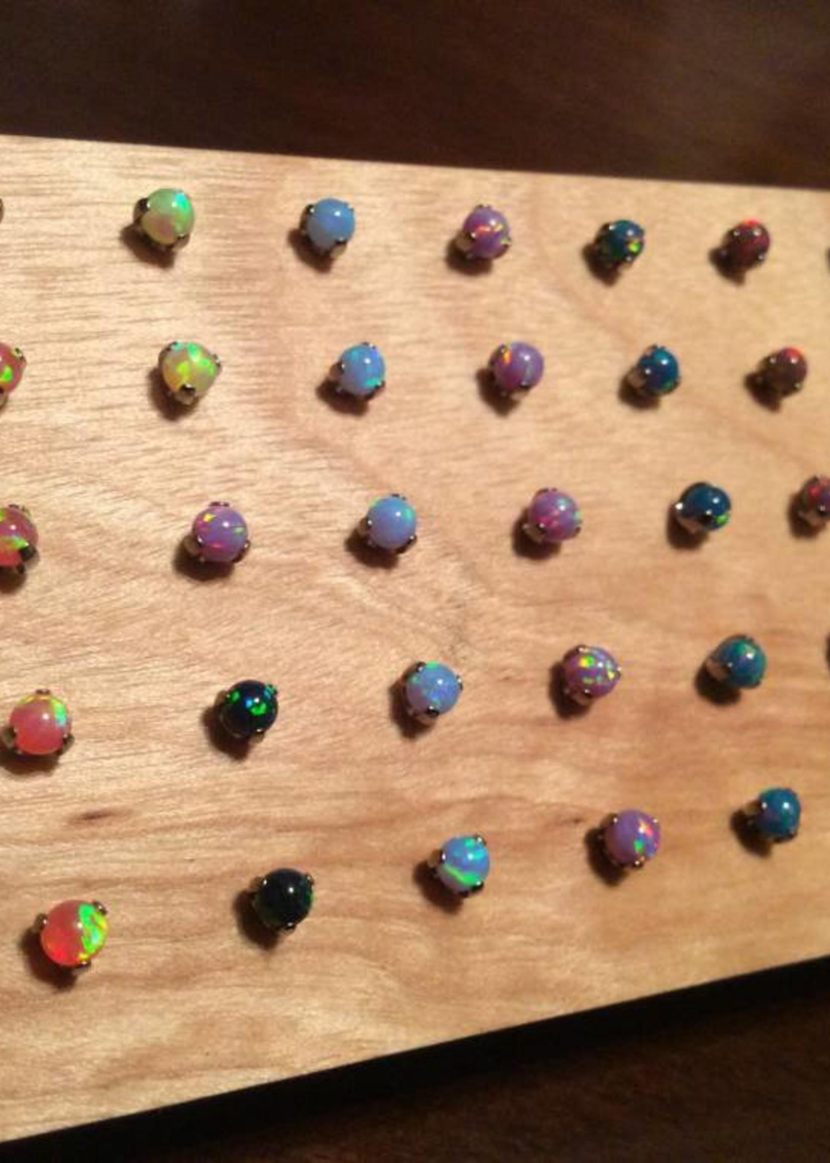 Ti 3-prong Opal Threadless End