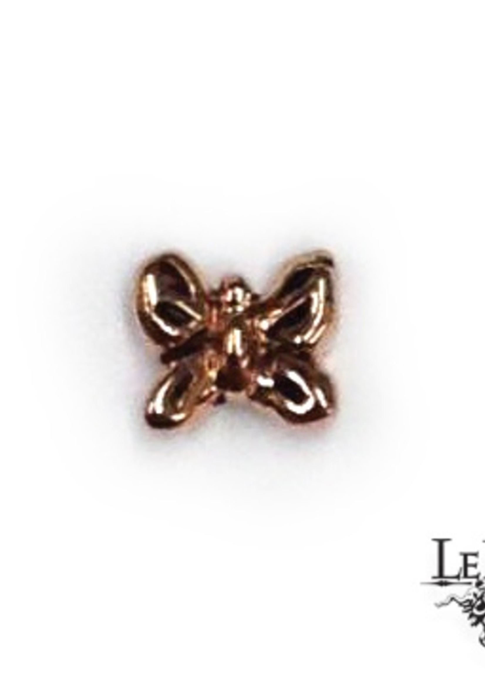 14k YG Butterfly (3mm) Threadless Pin