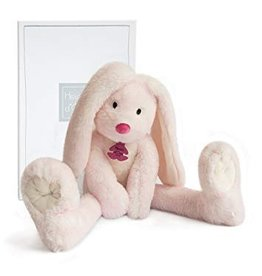 Histoire d'Ours Fluffy Rabbit Long Legs Pink