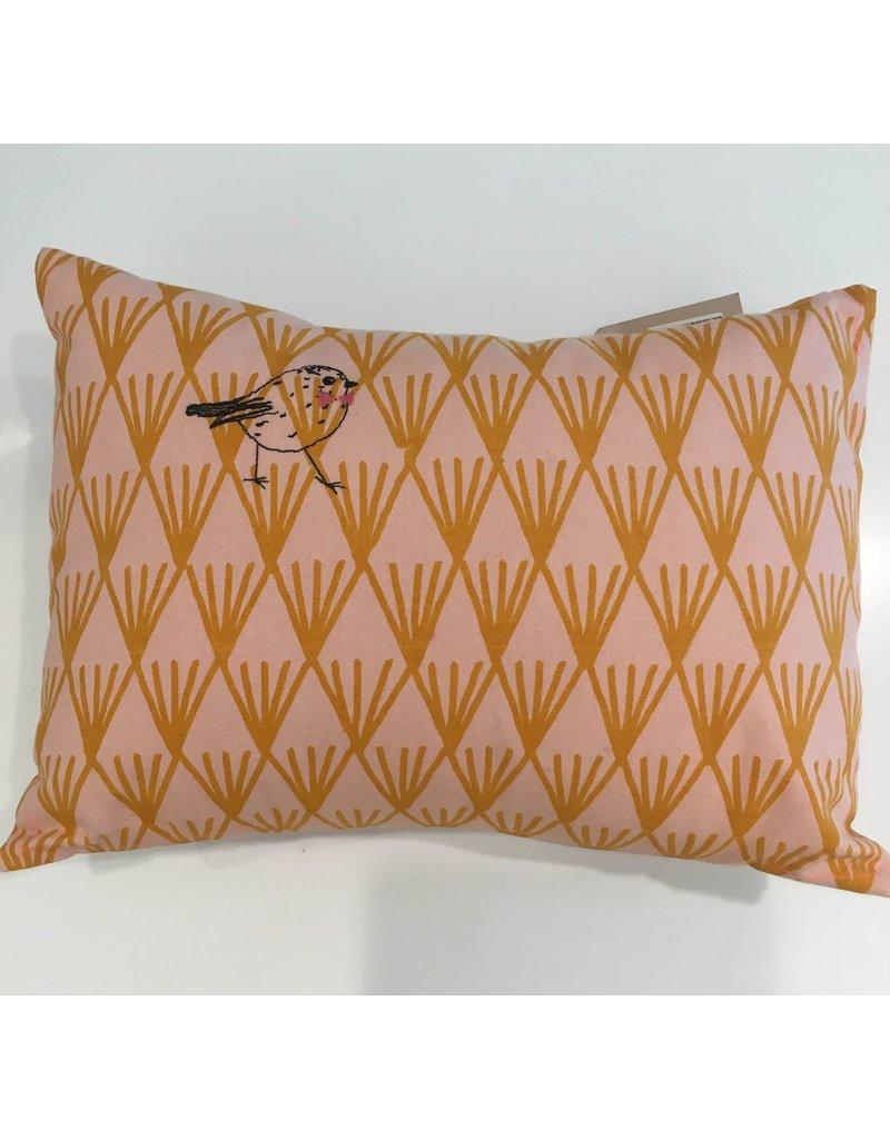 Mimi Lou Mimi Lou Classy Bird Embroidered Cushion