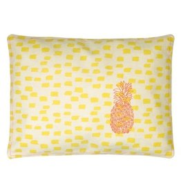 Mimi Lou Mimi Lou Pineapple Embroidered Cushion
