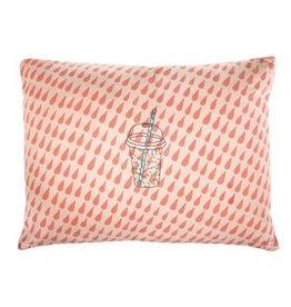Mimi Lou Mimi Lou Drops Embroidered cushion