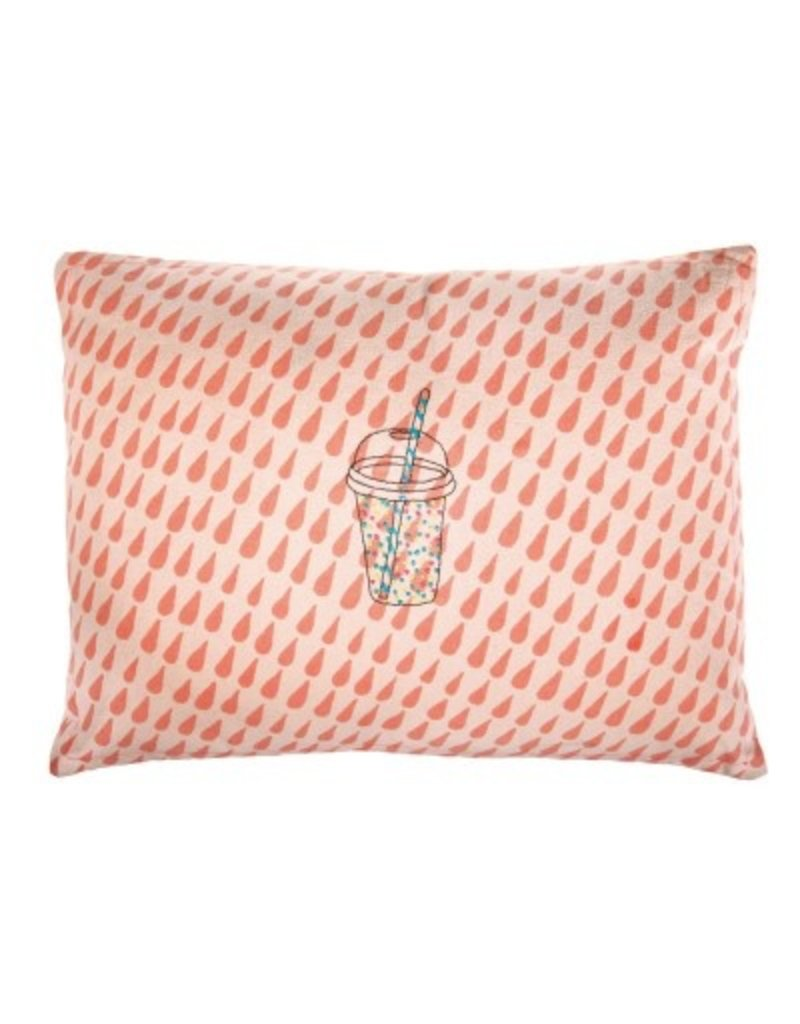 Mimi Lou Mimi Lou Drops Embroidered cushion