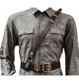 Leather Sam Browne Belt Harness
