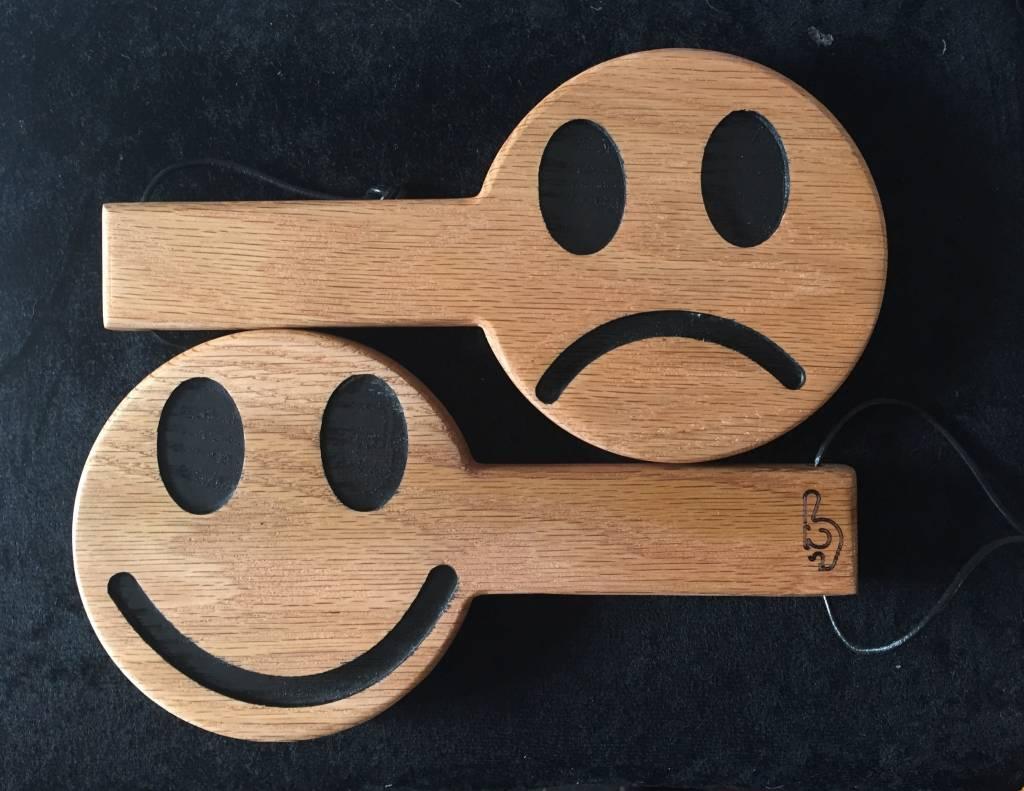 Imprinted Oak Pong Paddle