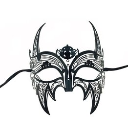 Metal Filigree Horned Mask