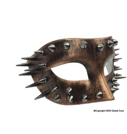 Distressed Copper Mask with Spikes
