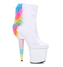 "7"" Unicorn Heel Ankle Boot W/ Mane"