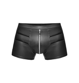 Wetlook Short Shorts w/ Zip Crotch