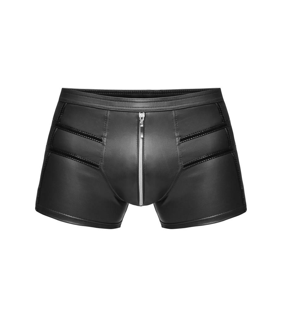 Wetlook Short Shorts w/ Zip Crotch